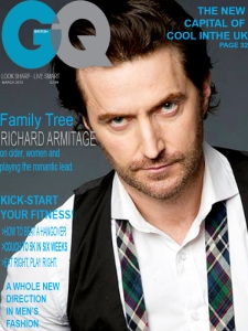 Spoof GQ cover, imagining that Richard Armitage took on the role of Matthew Carter in the screen adaptation of 'Fra From the Tree'. Main image used without permission, credited to Leslie Hassler.